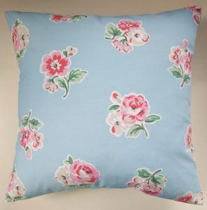 "Cushion Cover in Cath Kidston Large Ashdown Rose Blue 14"" 16"" 18"" 20"""